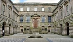 In BLIND FORTUNE, Lowden Hall's front entrance looks like Lyme Park Courtyard.