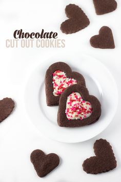 Rich Chocolate Cut Out Cookies. These cookies are slightly soft and hold their shape perfectly #chocolate #cookie #easyrecipe
