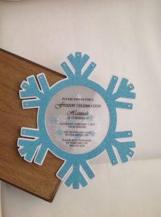 Frozen Winter Wonderland Snowflake Invitation Set of 8 Frozen Party Invitations, Snowflake Invitations, Frozen Birthday Invitations, Frozen Themed Birthday Party, Fun Wedding Invitations, Invitation Cards, Invitation Birthday, Schnee Party, Winter Wonderland Party