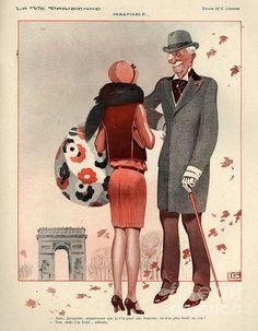 Georges Léonnec (1881 – 1940). La Vie Parisienne, 1920s. [Pinned 22-i-2015]