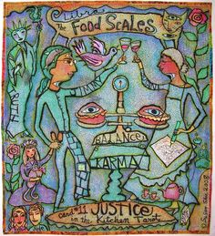 """tarot 11 justice   The Food Scales / Justice: Card #11 in the Kitchen Tarot."""" 2008 87 ..."""