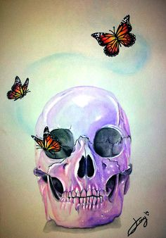 skull with butterflies by IssyInsanity on deviantART