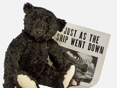I would love an original but they made a really cute replica too. Black Teddy Bear, Old Teddy Bears, Steiff Teddy Bear, Vintage Teddy Bears, Vintage Toys, Teddy Edwards, Teddy Bear Cartoon, Teddy Bear Pictures, Charlie Bears