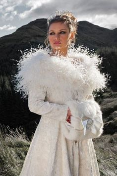 Cropped Feather Stole Wedding Dress Cover Up Beautiful For A Cold Winter