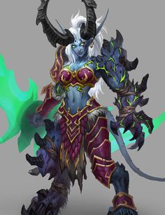 this is why draenei need to be demon hunters World Of Warcraft, Warcraft Art, Warcraft Legion, Fantasy Races, Fantasy Rpg, Dark Fantasy Art, Warcraft Characters, Fantasy Characters, Monster Characters