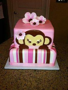 Peek a boo monkey. Cute for baby shower.