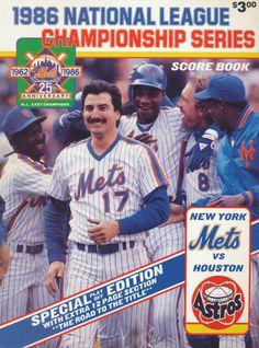 1984 NLCS | NLCS Program (1986) - 1986 NLCS Program - New York Mets vs Houston ...