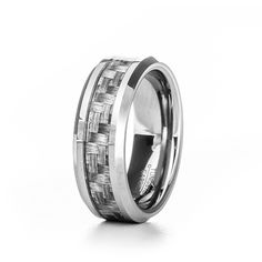 Men's Carbon Fiber Inlay Tungsten Ring ($29) ❤ liked on Polyvore featuring men's fashion, men's jewelry, men's rings, mens tungsten rings, mens engraved rings, mens rings, mens watches jewelry and mens band rings