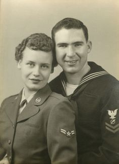Dual mil couple dating to 1954?  Friggin' awesome.