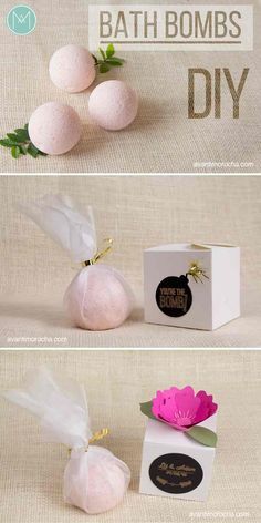 DIY Bath Bombs | Gift Idea | Event Favors | Weddings | Bridal Showers | Baby Showers Visit my Etsy shop https://www.etsy.com/shop/AvantiMorochaDIYs