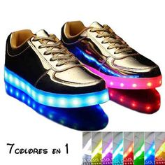 811928085fd Tenis Led-luminosos Colores Unisex Zapatos Ropa Deportiva -   1