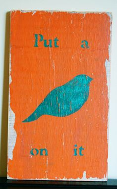 Your place to buy and sell all things handmade Hand Painted Signs, Wooden Signs, Presents, Birds, Illustrations, Canvas, My Love, Painting, Etsy