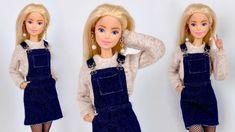 Sewing Barbie Clothes, Barbie Sewing Patterns, Barbie Dolls Diy, Doll Dress Patterns, Barbie Dress, Clothing Patterns, Barbie Doll Outfits, Diy Doll, Realistic Barbie
