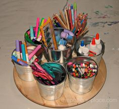 #papercraft #crafting supply #organization: pens, markers, pencils, brushes, etc.