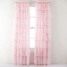 Lorraine Home Fashions Gypsy Shabby Chic Layered Ruffle Window Curtain Panel, 60 by 63-Inch, Pink by Lorraine Home Fashions, http://www.amazon.com/dp/B00B7LX2RO/ref=cm_sw_r_pi_dpp_H9oFsb1EFCW25