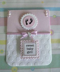 baby girl - no stamps by bookmama - Cards and Paper Crafts at Splitcoaststampers