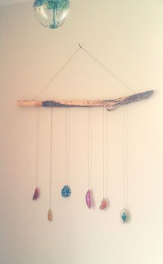 Agate Mobile Wall Hanging by BrownFinches on Etsy, $35.00
