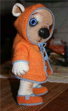 Связать игрушку Мишку тедди своими руками - http://babiki.ru/blog/master/469.html