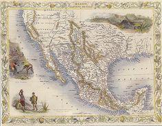 vintage vehicles from 1800s   1800s Map Mexico California Texas Yucatan Repro Poster   eBay