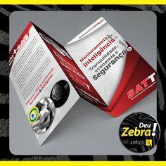 Folder de duas dobras que Deu Zebra! #DeuZebra #publicidade #propaganda #agência #Zebra #aideuzebra #agênciapp #comunicação #job #pp #empresa #empreendedorismo #empreendedor #mkt #style #design #off
