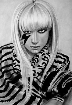 LADY GAGA 3 by *AngelaHillPortraits on deviantART