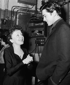 Edith Piaf & Alain Delon,1959