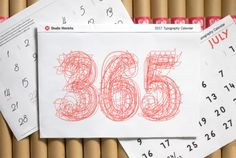In celebration of the 2017 Typography Issue of PRINT Magazine, HOW and PRINT are giving away five of these incredible 365 Typography Calendars from Studio Hinrichs. Book And Magazine, Print Magazine, 2017 Typography, Calendar 2017, 2017 Design, Studio, Book Publishing, Design Projects, Stationery
