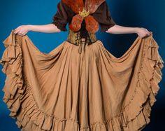 Tan Saloon Skirt