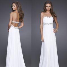 c505e097cc02 2014 Hot cheap free shipping fashion leisure Strapless chiffon long section  of diamond-studded dress