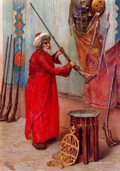 Gun Seller by Turkish Orientalist Painter Osman Hamdi Bey Medieval, Academic Art, Pics Art, Turkish Art, Historical Art, Vintage Artwork, Ottoman Empire, Art Plastique, Islamic Art