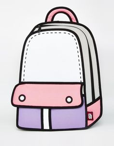 Image 3 of JumpFromPaper Pink Color Block Backpack