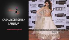 Cream Gold Queen Lehnga | http://www.fashion4style.com/woman/clothing/bollywood-replica/cream-gold-queen-lehnga/pid=MTQ0 #love #party #beautiful #weddingsuit