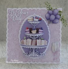 December 11, 8th Of March, Lace Wedding Invitations, Fun Fold Cards, Create And Craft, Carnations, Greeting Cards Handmade, Hello Everyone, 2nd Birthday