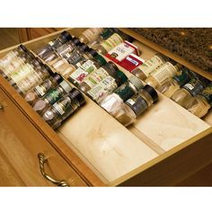 Wood Spice Drawer Insert by Omega National | KitchenSource.com #kitchensource #pinterest #followerfind