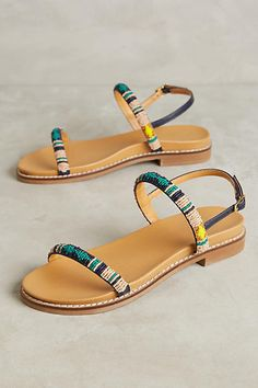 Ne Quittez Pas Rowena Beaded Sandals