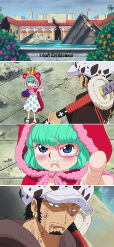 Law and Sugar...why does Sugar remind me of Tatsumaki from One Punch Man??!