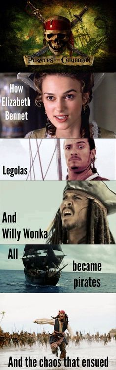 The Pirates of the Caribbean basically: Pirates Of The Caribbean Funny, Pirates Of The Caribean Funny, Pirates 3, Legolas Funny, Pirates Of The Carribean Funny, Pirates Life, Movie, Funny Pirate, Edward Scissorhands Funny