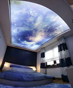 dekoracyjne oświetlenie LED sypialni