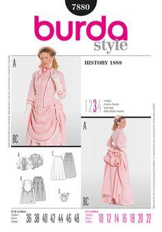 Simplicity Creative Group - Burda Style, History 1888 Ce rose est hideux, mais en vert bouteille ? why not
