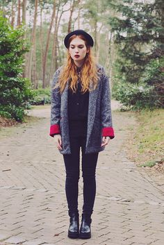 Sheinside Coat, Sheinside Jeans, Chicwish Ankle Boots