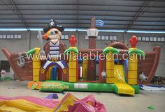Pirate combo inflatable  #piratecombo #inflatablepirate #inflatablecombo