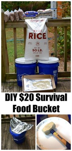 DIY  Survival Food Bucket ~ http://www.southernplate.com