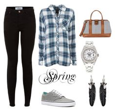 """""""Spring"""" by stina999 on Polyvore featuring Rails, Sole Society, Rolex, Rebecca Minkoff and Vans"""