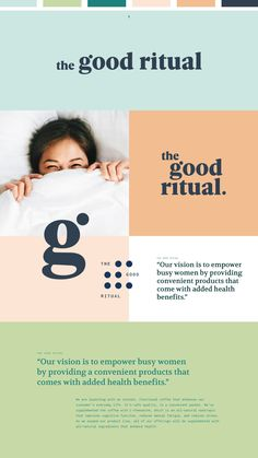 The Good Ritual | all-natural wellness productsThe Good Ritual's main goal is to create unique wellness products that enhance health and empower modern women. branding, logo design, colorful brand design, colorful logo, logo inspo Web Design, Website Design Layout, Website Design Inspiration, Media Design, Graphic Design Inspiration, Logo Design, Brand Design, Corporate Design, Brand Archetypes