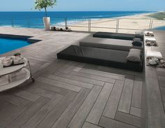 Porcelanosa tile - the look and feel of real wood.