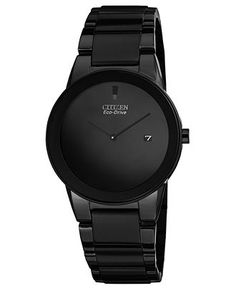 Citizen Watch, Mens Eco-Drive Axiom Black Ion-Plated Stainless Steel Bracelet 40mm AU1065-58E - Mens Watches - Jewelry  Watches - Macys