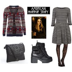 """""""Violet Harmon"""" swap the boots with flat heeled boots& no bag then perf"""