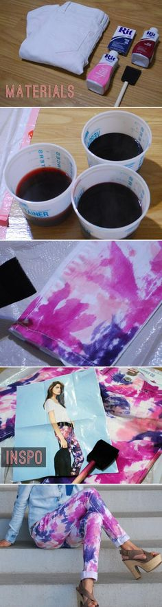 Dyeing for Fun: DIY Fashion Tie Die DIY Tie Dye Denim
