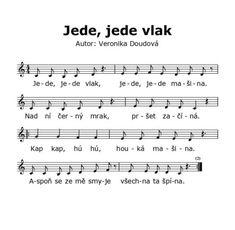 Jede, jede vlak - Permoníček Krápníček - První dětský webový magazín Sheet Music, Author, Musica, Music Sheets