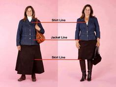 How great is this visual!!! WOW! Dressing for your body frame can make you look thinner... Proof is in the picture!